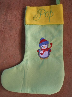 Amandas Bubba Boo In Christmas Stocking