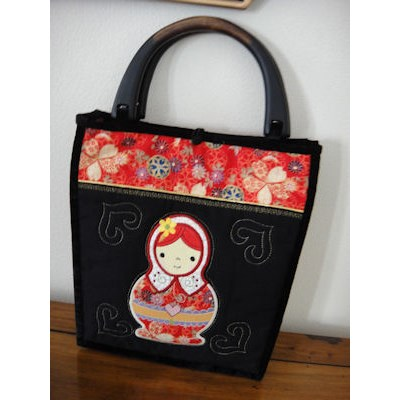 Carols Russian Dolls Pillow Sham and Handbag
