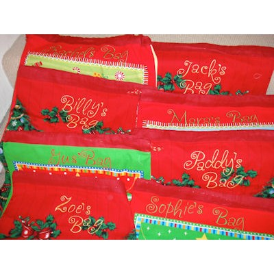 Carols Frivolity Santa Bags
