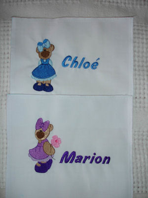 Sarah Boo Bear Embroidery Labels