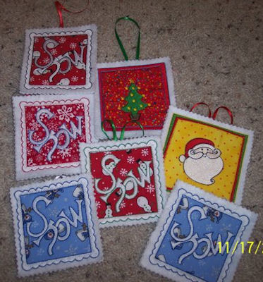 Colleens Christmas Patches Ornaments