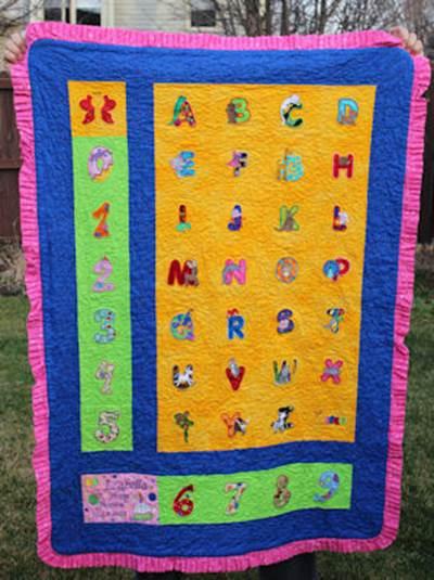 Joyces Animail Alphabet Quilt