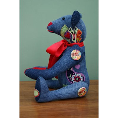 Kathryn Flower Power Applique Bear