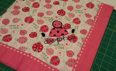 Cathryn Feels Like Spring Applique Blanket