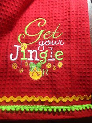 Cheryl Christmas Sentiments Six towel.