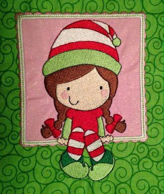 Karen Box Christmas Applique Stocking