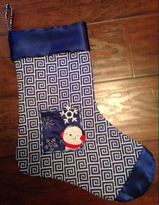 Karen Box Christmas Applique Stocking
