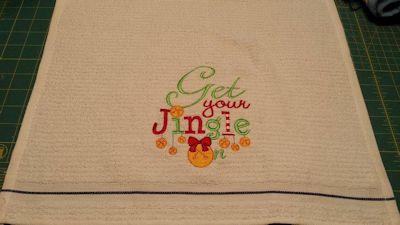 Laurie Christmas Sentiments Six Tea Towel