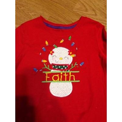 Linda Spliet Christmas Applique Shirt