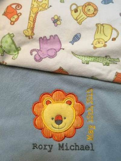 Debbie Cute Animal Faces Applique Blankets