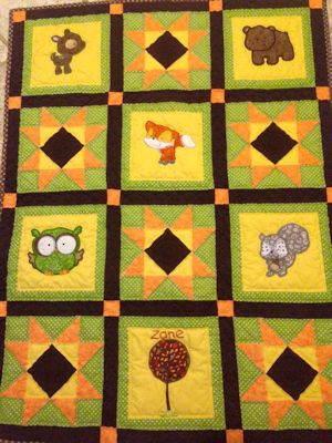 Linda Forest Animals Applique Quilt Dec 15