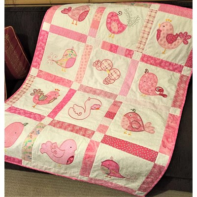 Lindy Lou Kidsworld Tweet Thing Applique Quilt Dec 16