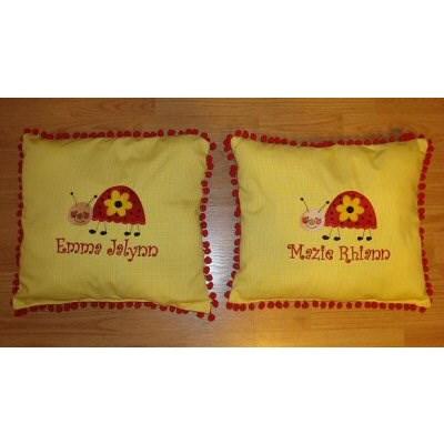 Melissas Doodle Bug Pillows