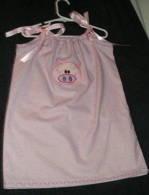 Applique Animals Pillow Case Dress