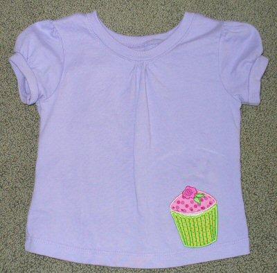 Rhonda Cupcake Applique Too TShirt