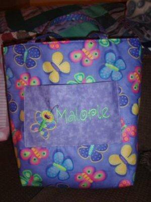 Jeans Doodle Bugs Applique Bag and Blanket