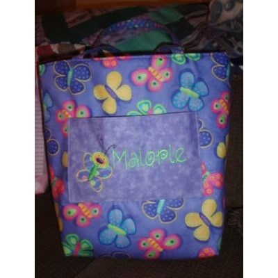 Jeans Doodle Bugs Applique Bag and Blanket