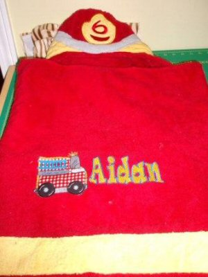 Jeans Applique Boys Toys Towel