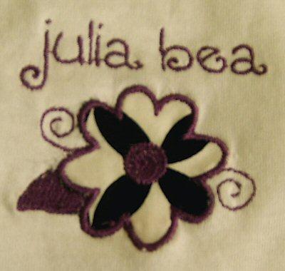 Lyndas Funky Flowers Applique Tshirt