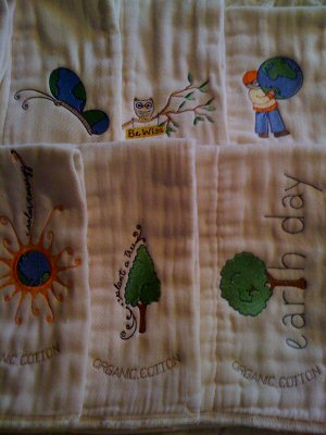 Barbaras Earth Day Burp Cloths