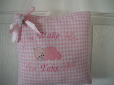 Lyns Hush Baby Too Door Hanging Pillows