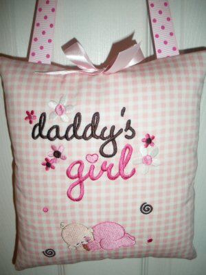 Lyns Dear Daddy Pillow