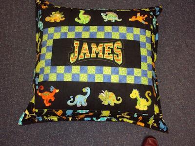 Kylies Dino-rawhs Cushion.
