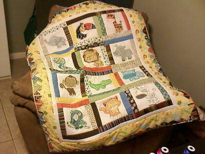 Karla Mighty Jungle Animals Applique Quilt
