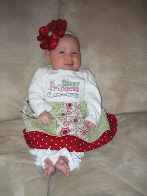 Natalies Girly Christmas Outfit