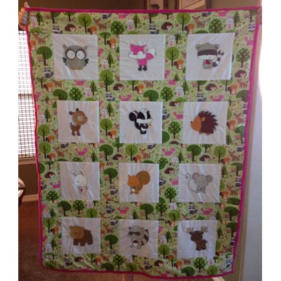 Cathy Forest Animals Quilt