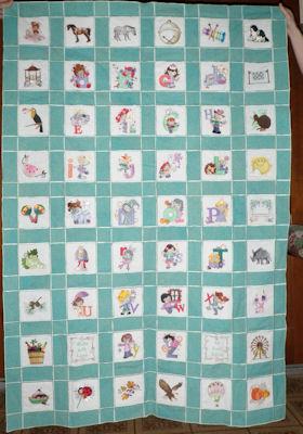 Ednas Cuties Alphabet Quilt
