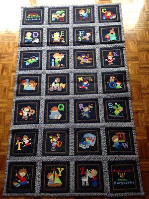 Marguerite Boys Alphabet Quilt