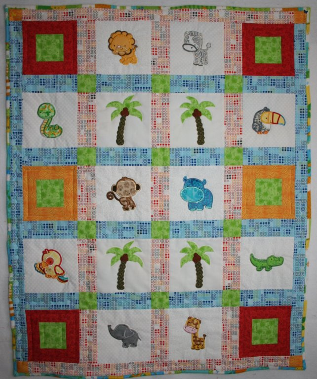Diane Forest Animals Applique Quilt Jan16