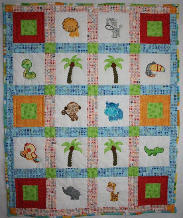 Diane Forest Animals Applique Quilt Jan16