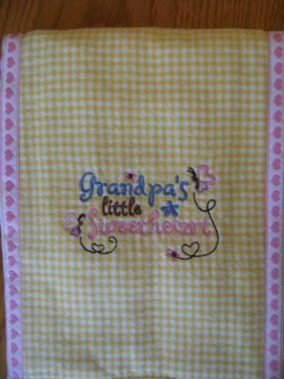 Bonnies Dear Grandmas Burp Cloths