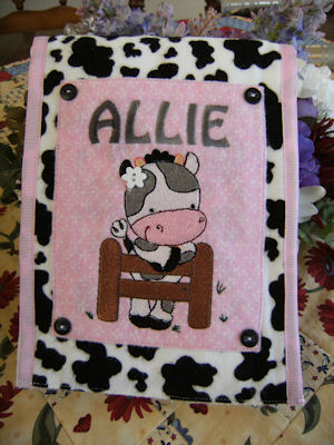 Bonnies Farm Animals Burp Cloth