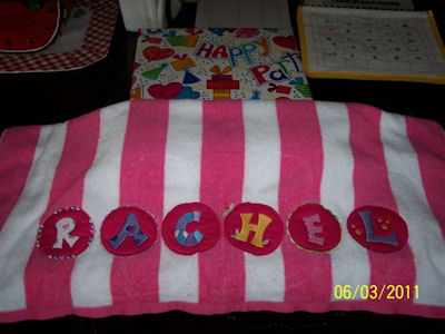Colleens Button Alphabet Towel