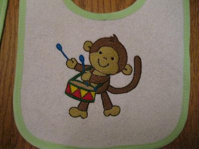 Elsies Monkeying Around Bibs