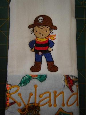 Greta Pirates Ahoy Burp Cloth