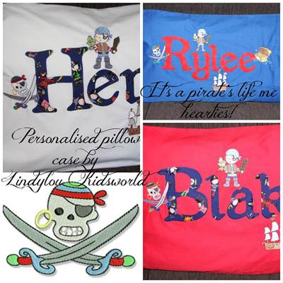 Lindy Lou Kidsworld Pirate Pillow Cases
