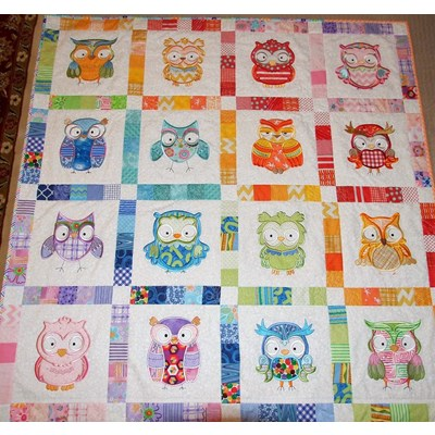 Lindy Lou Kidsword What A Hoot Quilt July 17