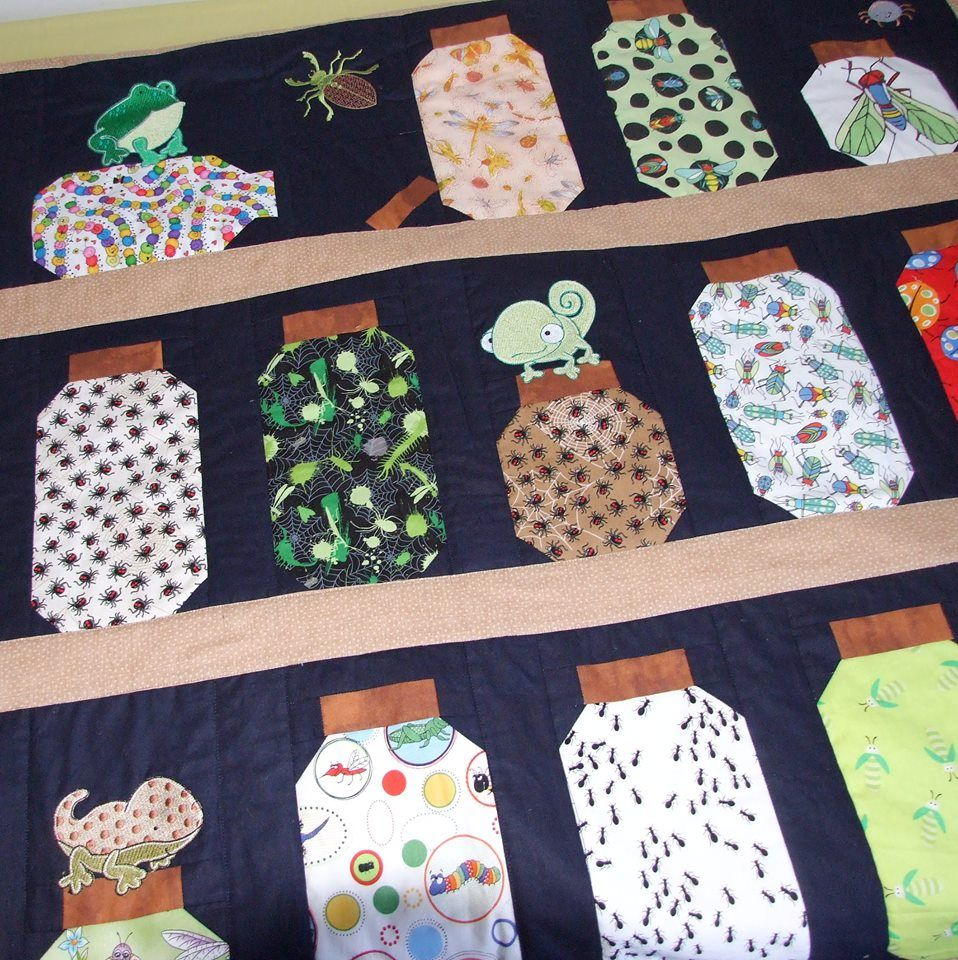 Lindy Lou Kidsworld Reptiles Quilt Jul 17