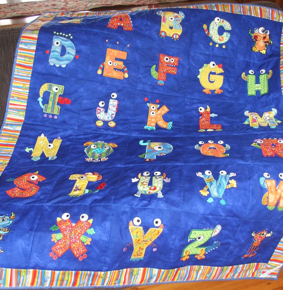 Lindy Lou Kidsworld Monster Mash Quilt Jul 17