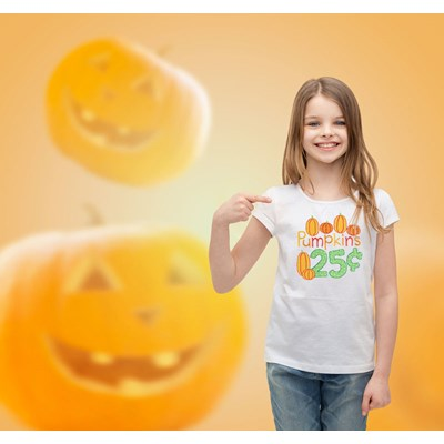 Bunnycup Shirt Using Pumpkin Patch Sentiments