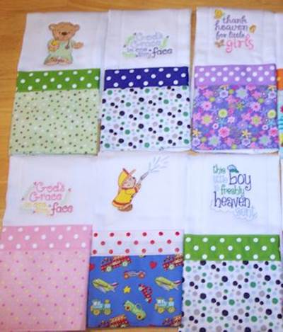 Donna Burp Cloths Jul 17