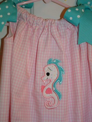 Christis Sweet Sea Applique Dress