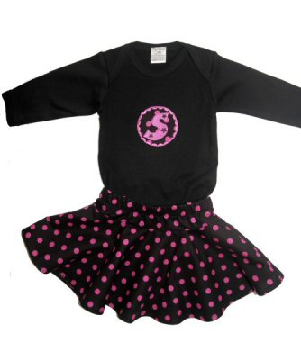 Veras Button Applique Outfit