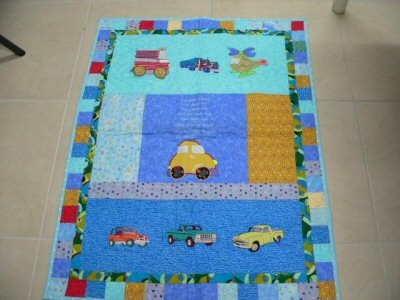Caroles Applique Boys Toys Quilt