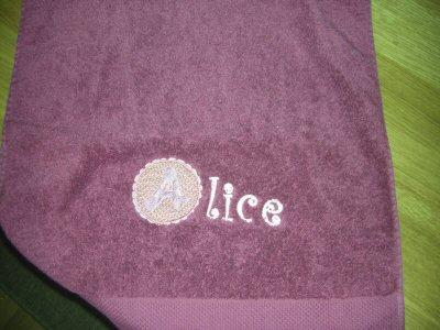 Florence Button Applique Alphabet Towel