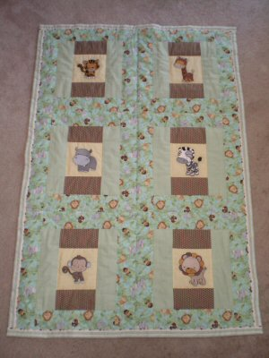 Stephanie - MIghty Jungle Animals Quilt